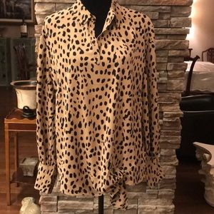 NWT Chico's animal print blouse